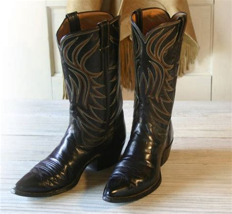 Custom Handmade Cowboy Boots - s stelzer custom handmade all leather black