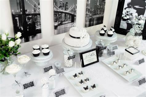 kara s party ideas stylish black and white fortieth
