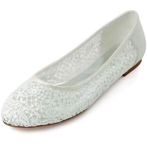 Wedding Shoes Closed Toe Ivory by 2015 New Style Fc1506 Ivory Bridal Flats Heels