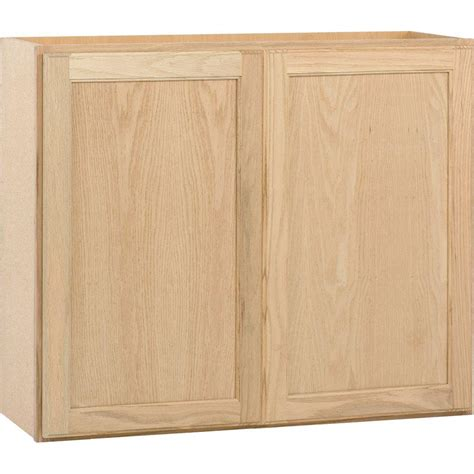 Kitchen Cabinet Unfinished Assembled 36x30x12 In Wall Kitchen Cabinet In Unfinished Oak W3630ohd The Home Depot