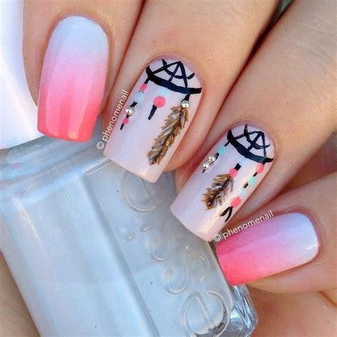 Dream Catcher Design For Nails | 35 cool dream catcher nail designs for native american