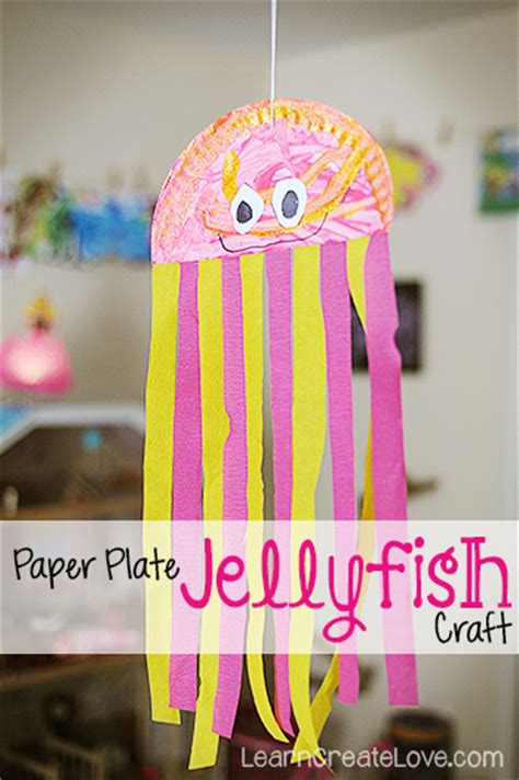 Paper Jellyfish Craft - paper plate jellyfish craft