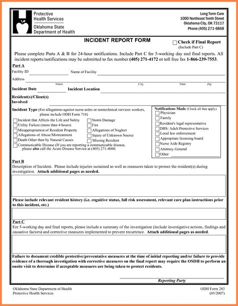 4 security incident report template word progress report