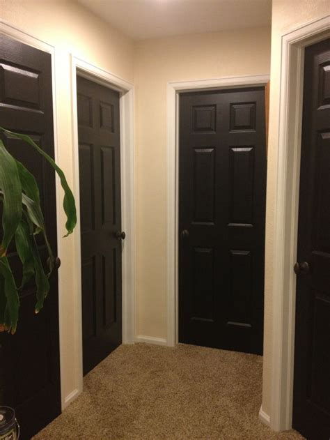 Best Black Paint Color For Interior Doors Hallway Black Doors Home Black Door