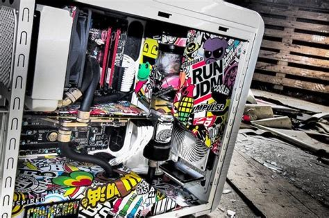 Pc Aufkleber by Another Great Sticker Bombed Pc Hits Our Radar Try This