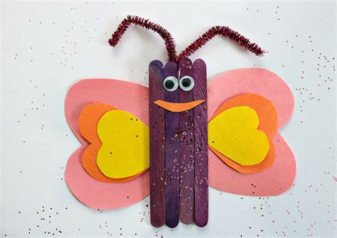 popsicle stick craft for popsicle stick butterfly craft for
