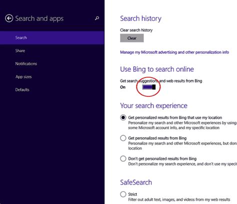 windows 10 tip how to turn off bing web search in start how to disable bing integrated search in windows 8 1