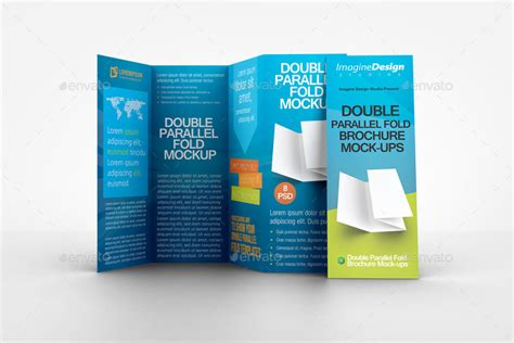 Double Parallel Fold Brochure Mockup By Bagera Graphicriver Parallel Fold Brochure Template