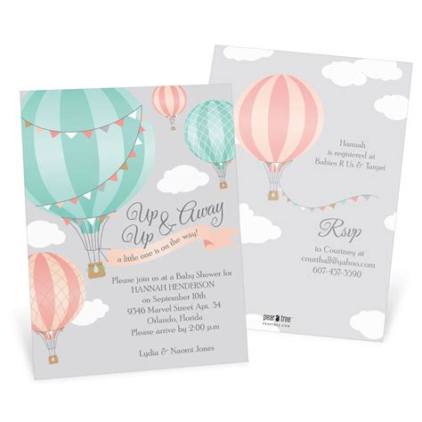 Up Up And Away Baby Shower by Up Up Away Baby Shower Invitation Pear Treefrom