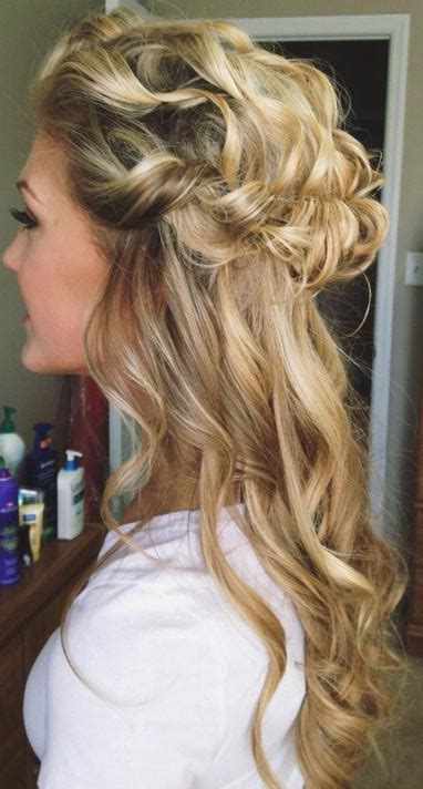 half up half wedding hairstyles 2016 2016 half up half prom hairstyles fashion trend seeker