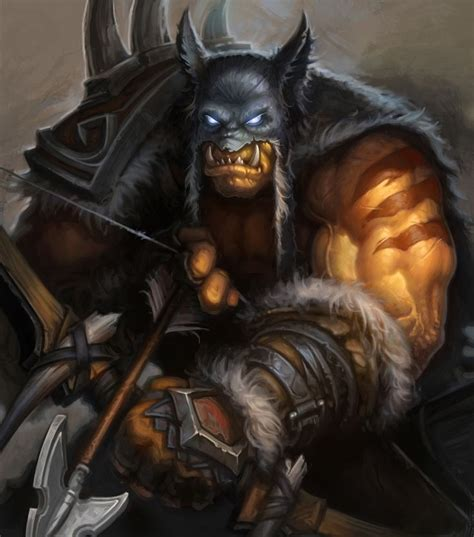 the art of hearthstone hero rexxar artist ben thompson hearthstone classic hunters heroes and artists