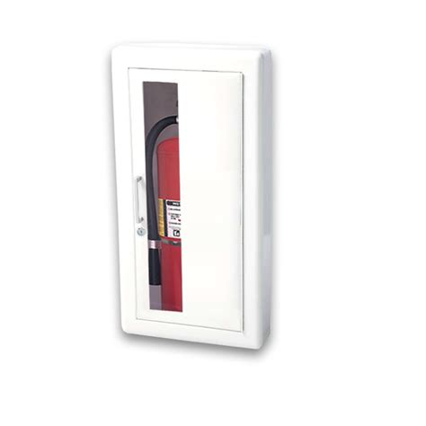 semi recessed fire extinguisher cabinet jl ambassador 8117w10 semi recessed 5 lbs fire