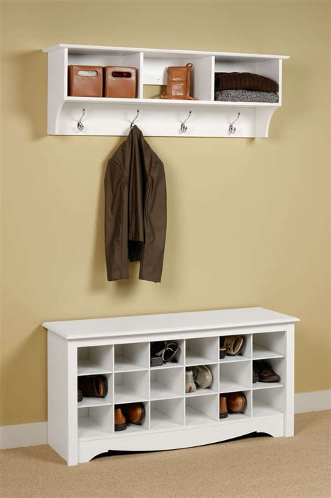 Closet And Cabinet Organizers Two Layer Clear Coating Wooden Rack For Shoe Organizer