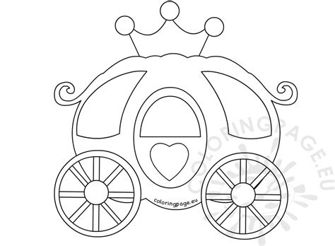 Pumpkin Carriage Coloring Page | pumpkin carriage coloring book coloring page