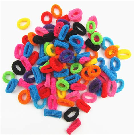 cute natural styles with colorful rubberbands wholesale 100 pcs colorful rainbow cute φ φ hair hair band