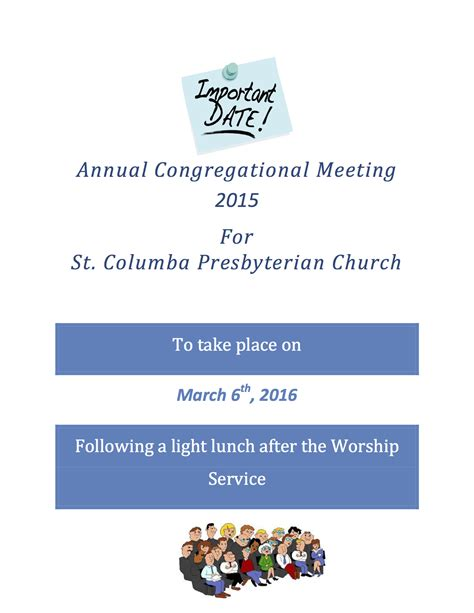 Lindenwood Belleville Mba by Annual Congregational Meeting 2016 St Columba