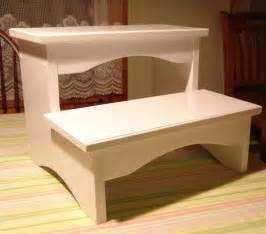 handcrafted heavy duty step stool solid wood bedside