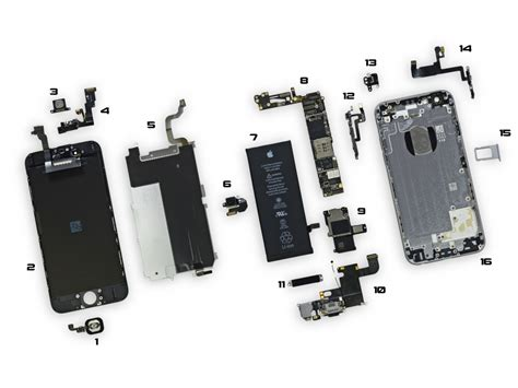 Sparepart Iphone 6 iphone 6 parts diagram