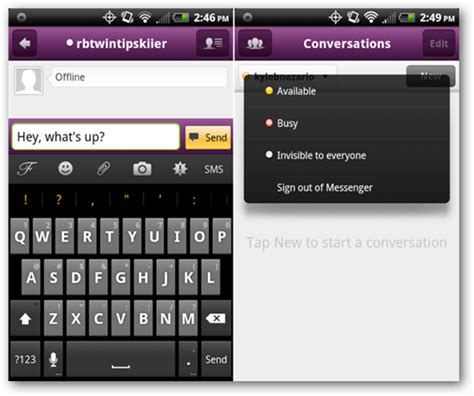 yahoo instant messenger for android best alternative instant messenging apps for android beat the stock