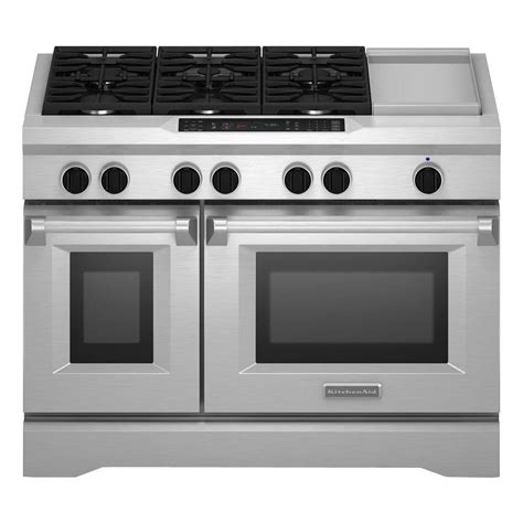 Kitchen Living Convection Countertop Oven - kitchenaid commercial style 48 in 6 3 cu ft slide in double oven dual fuel range self