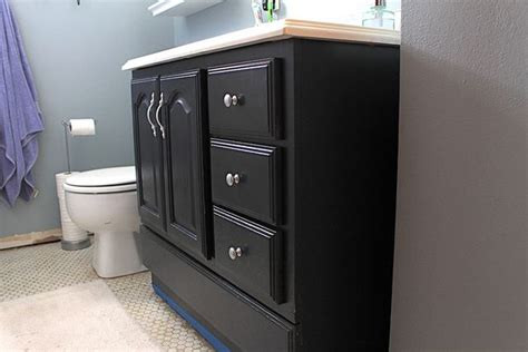 chalk paint bathroom vanity bathroom vanity makeover by decor adventures sloan