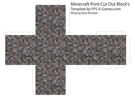 Papercraft Minecraft Blocks - minecraft templates minecraft and cut outs on