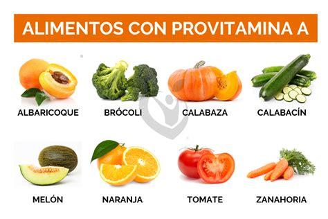 alimentos con vit a vitamina a dise 209 a tu vida