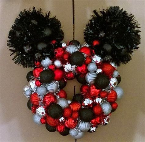 diy mickey mouse christmas decorations mickey mouse ornament wreath