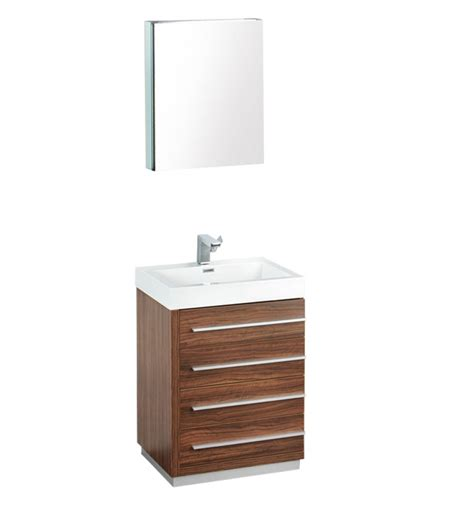 bathroom vanity medicine cabinet 24 inch walnut modern bathroom vanity with medicine