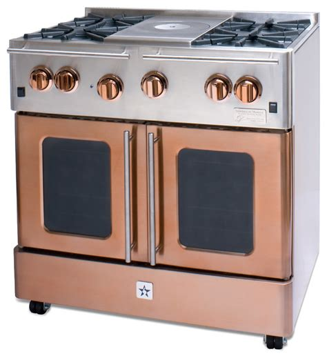 bluestar copper 30 gas range available at www idlers net bluestar infused copper 36 quot gas range modern gas