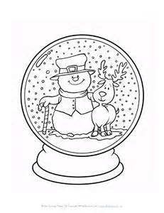 snow globe coloring page winter snowglode coloring page all network