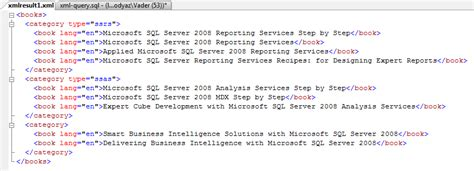 tutorial xml sql server 2008 sql xml query in sql server 2008