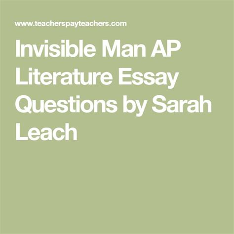 Ap Literature Essay Question 3 by 25 Best Ideas About Essay Questions On Middle School Us History Essay And