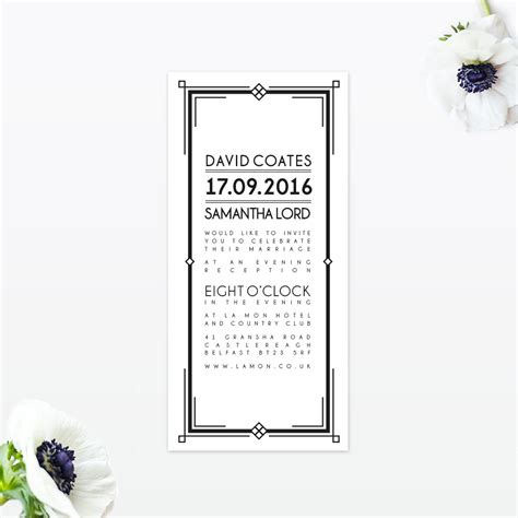 Wedding Invitations Deco by Deco Wedding Invitation Invited Luxury
