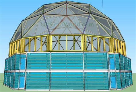 Truk Kontainer Aquarium portable solar powered aquaponics greenhouse can grow food