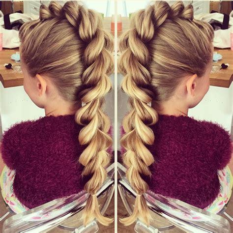mohawk braid hairstyle mohawk pull through braid hairstyles for