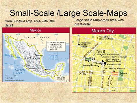 large scale map geography skills handbook tools of geography ppt