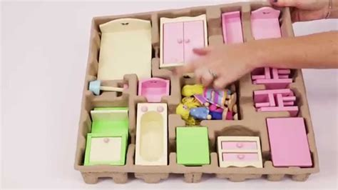 unboxing george  asdas  wooden dolls house furniture