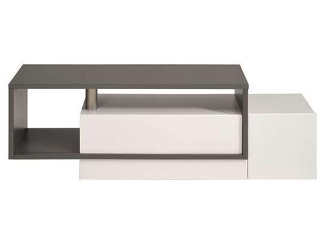 meuble tv tetris coloris gris blanc conforama