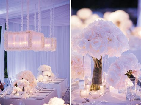 Wedding with an all white décor