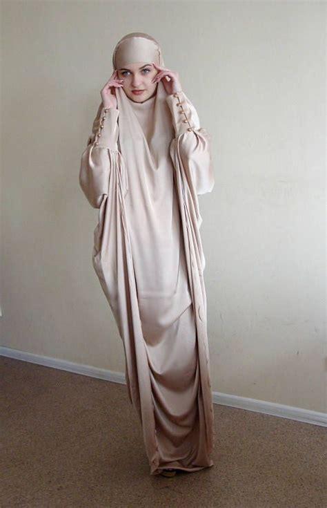 Mukena Bilqis Krem 1 silk khimar muslim dress beige burqadubai burqa niqab muslim