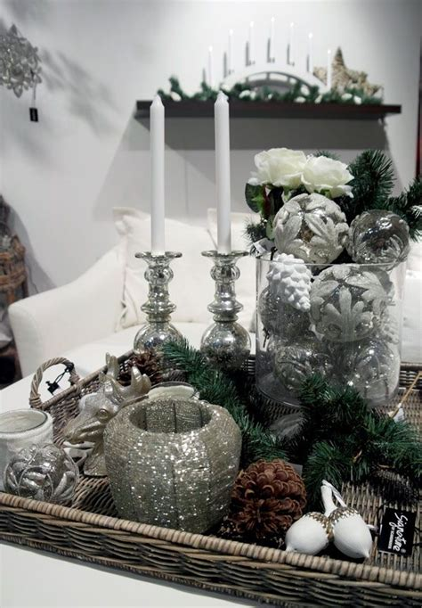 how to decorate a coffee table for christmas winter white and silver 53 coffee table decor ideas that don t