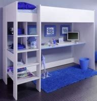 compare smoozy blue high sleeper bunk bed  boys prices