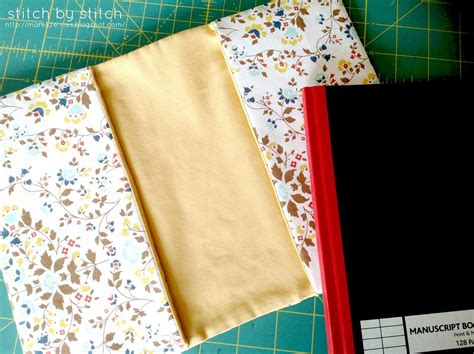 how to do a sew in to cover shaved sides stitch by stitch fabric book cover tutorial