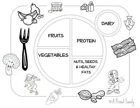diet plate template healthy food coloring pages healthy habits early