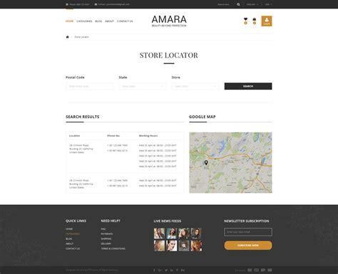 store locator themes amara ecommerce fashion psd template by stimapress
