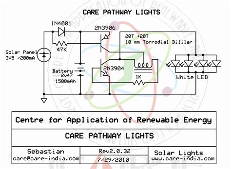 Solar Light Schematic Automatic Solar Garden Light Circuit Diagram Circuit And