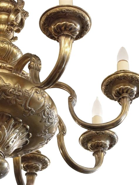 cherub chandelier 1900s made gold plated eight arm chandelier with
