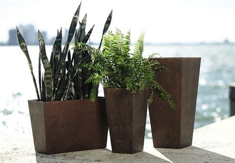 modern planters and pots ella tall planter modern plant pots planters by