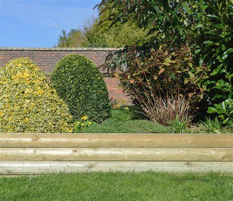 Rounded Garden Sleepers by Grange Rounded Garden Sleeper 2 4m Gardensite Co Uk